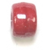 Glass Crow Bead 9mm Opaque Luster Red
